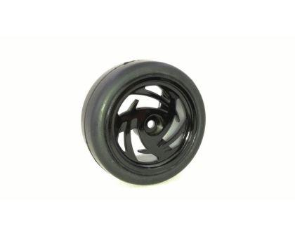AB-2510003 Profil schwarz 1:10 4 St Absima Räderset Onroad 6-Speichen