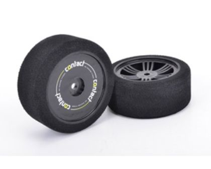 Contact Tyres 1:10 Doppel-Compound C hard vorne auf Carbon Felge