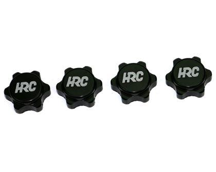 4 Stk. // HRC1051BL HRC Racing Radmuttern M4 nyloc geflanscht Aluminium Blau
