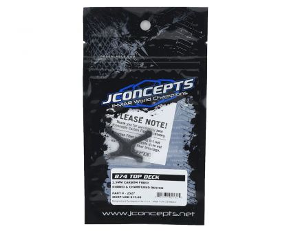 JConcepts B74 Carbon Fiber front top-deck ribbed and chamfered