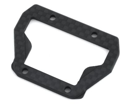 JConcepts B74 Carbon Fiber center bulkhead top-plate ribbed and chamfered