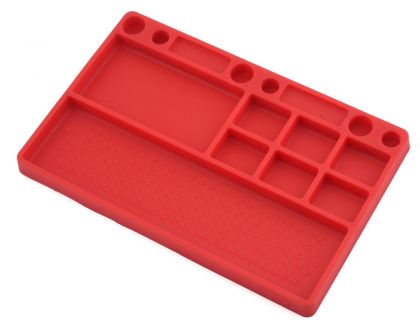 JConcepts parts tray rubber material red