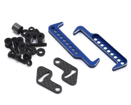 JConcepts B6 Swing Operated Battery Retainer Set blau