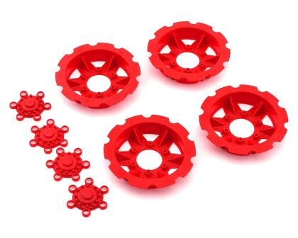JConcepts Tracker wheel discs red