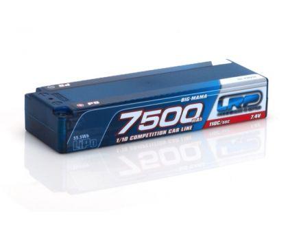 LRP 7500 Big Mama P5 110C 55C 7,4V LiPo 1/10 Competition Car Line Hardcase