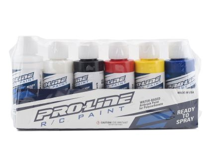 ProLine RC Body Paint Primary Color Set 6 Pack