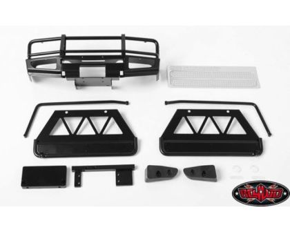 RC4WD Trifecta Front Bumper Sliders and Side Bars for Land Cruise Black