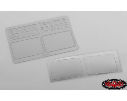 RC4WD Mirror Decals for Traxxas TRX-4 79 Bronco Ranger XLT