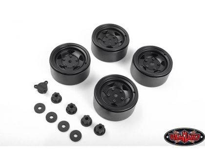 RC4WD Seren 2.2 Beadlock Wheels Center Caps Black