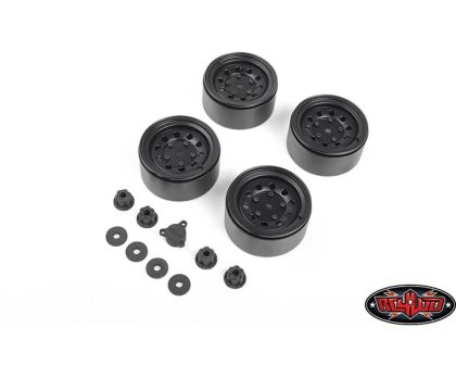 RC4WD Burato 2.2 Beadlock Wheels Center Caps Black