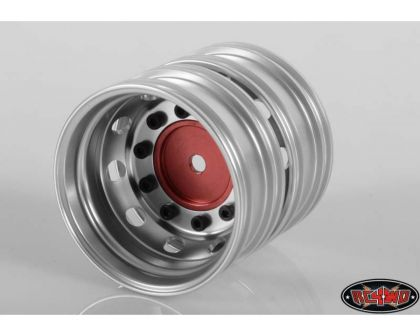 RC4WD Boulder Semi Truck Rear Wheels with Scale Hub Red