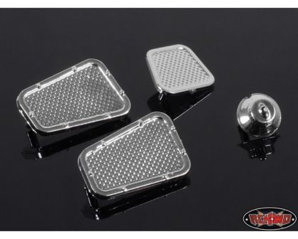 RC4WD Land Rover Defender D90 Chrome Vents and Fuel Filler Parts