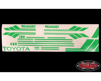 RC4WD Clean Stripes for Mojave II 2/4 Door Decal Sheet green