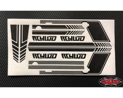 RC4WD Clean Stripes for D110 Decal Sheet Black