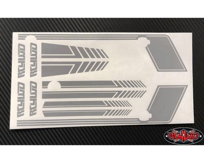 RC4WD Clean Stripes D90 Decal Sheet Grey