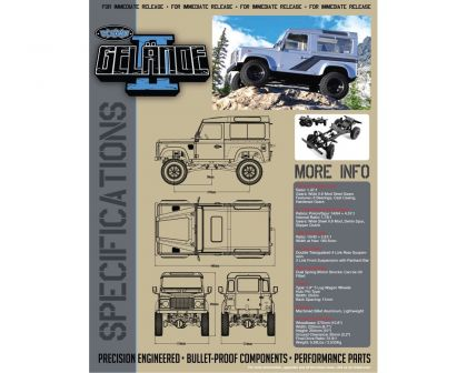 RC4WD Gelande II Truck Kit w/Defender D90 Body Set RC4ZK0001