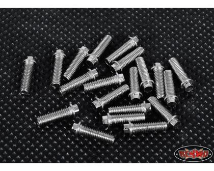 RC4WD Miniature Scale Hex Bolts M2.5 x 12mm Silver RC4ZS1598