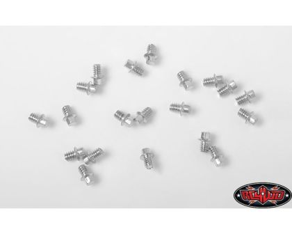 RC4WD Miniature Scale Hex Bolts M1.6 x 2mm Silver
