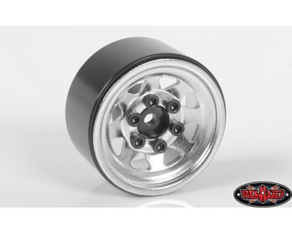 RC4WD Stamped Steel 1.0 Stock Beadlock Wheels Chrome