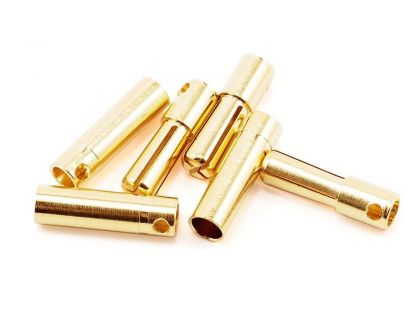 Tekin Solid High Power 4.0mm Gold Connector 3 sets