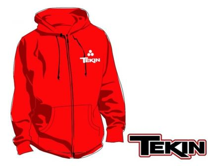 Tekin Fuzion 2 Zip Up Hoodie Red XL