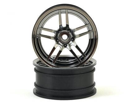 Traxxas Felgen 1.9 Split Spoke Chrome schwarz vorne