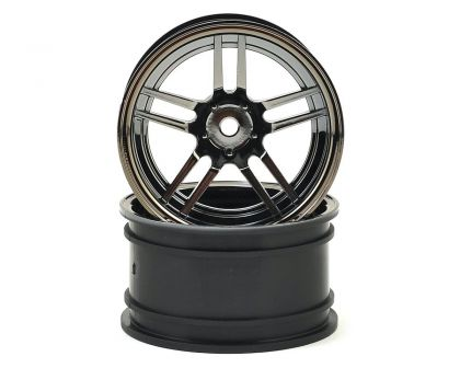 Traxxas Felgen 1.9 Split Spoke Chrome Schwarz extrabreit hinten