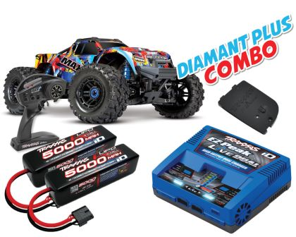 Traxxas Maxx 1/10 Monster Truck RTR Rock N Roll Diamant Plus Combo TRX89076-4-RNR-DIAMANT-PLUS-COMBO