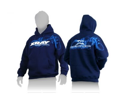XRAY SWEATER HOODED BLUE S