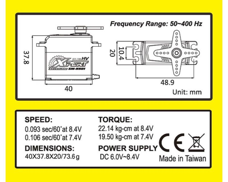 Xpert Servo High-Voltage Standard sm5501-hv xpesm 5501hv